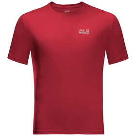 Jack Wolfskin Tech T-shirt Heren, red lacquer